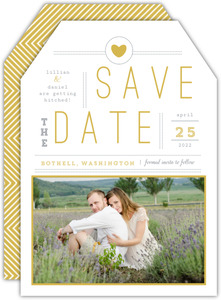 Simple Modern Statement Save The Date Announcement