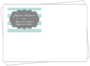 Striped Paris Sweet 16 Custom Envelope