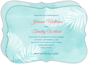 Watercolor Palms Wedding Invitation