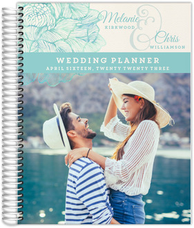 Romantic Watercolor Florals Custom Wedding Planner