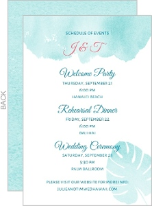 Watercolor Palms Wedding Enclosure Card
