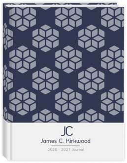 Masculine Geometric Pattern Business Journal