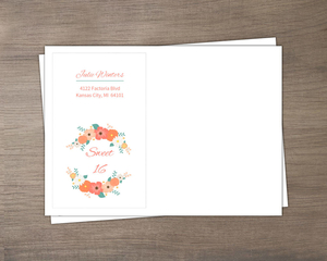Pale Pink Country Floral Sweet Sixteen Envelope