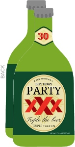 30Th Surprise Birthday Beer Bottle Invitation