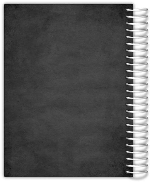 Silver Faux Foil Confetti Planner