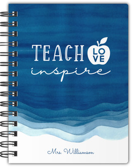 Blue Watercolor Stain Notebook