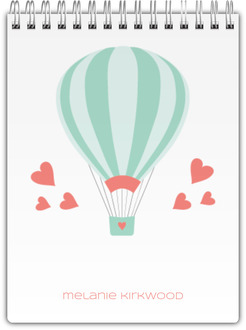 Whimsical Air Balloon Notebook