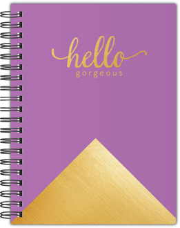 Faux Foil Hello Gorgeous Notebook
