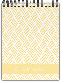 Classic Yellow Pattern Notebook