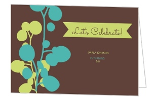 Flower Bud Thirtieth Birthday Party Invite