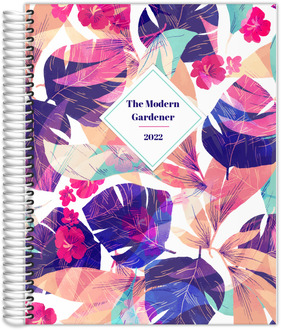 Bright Colorful Tropical Foliage Content Planner
