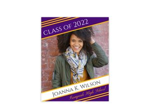 Simple Diagonal Stripes Graduation Poster