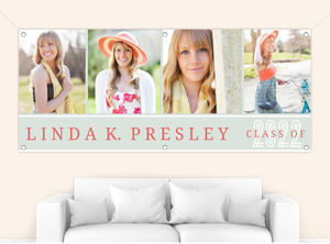 Light Green Photo Collage Graduation Banner