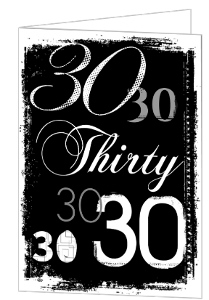 Grunge Numbers 30Th Birthday Invitation