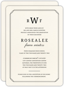Formal Double Frame Graduation Invitation