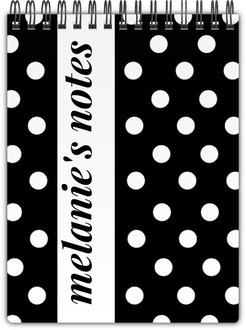 Bold White Polka Dots Notebook