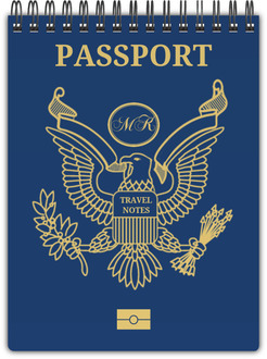 Navy Passport Travel Notebook