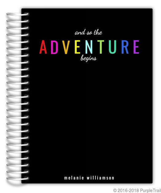 The Adventure Begins Custom Planner