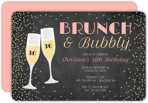 Bubbly Celebration 30th Birthday Invitation