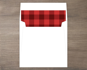 Red and Black Plaid Envelope Liner