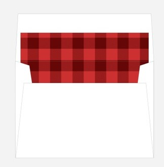 Red and Black Plaid Envelope Liner 4x6