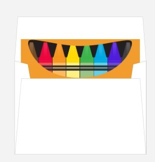 Colorful Crayon Box Envelope Liner