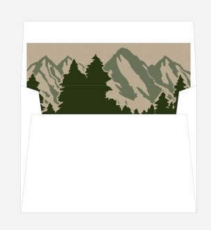 Evergreen Mountains Envelope Liner