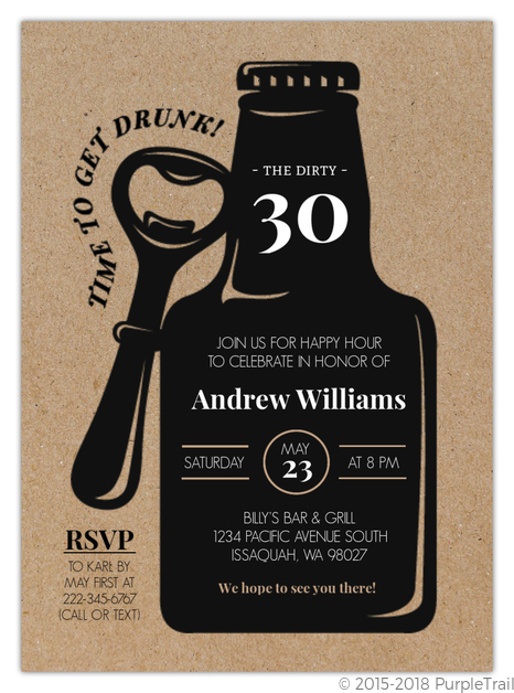 awesome 30th birthday invitation and 52 30th birthday invitations