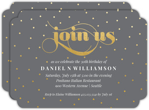 Celebration Dots 30th Birthday Party Invitation