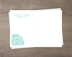 Romantic Watercolor Florals Wedding Envelope