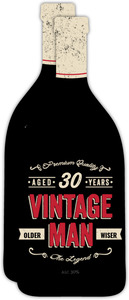 Vintage Man Bottle 30th Birthday Invitation