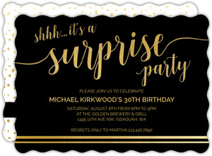 Its A Surprise 30th Birthday Invitation