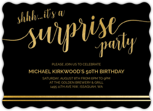 Its A Surprise Online Birthday Invitation