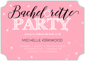 Pink and Black Theme Online Bachelorette Party Invitation