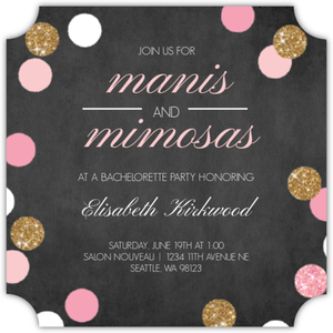 Manis and Mimosas Online Bachelorette Party Invitation