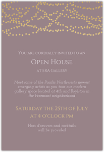 Sophisticated Faux Gold Lights Business Open House Online Invitation