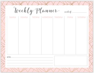 Modern Geometric Pattern Weekly Meal Planning Printable Custom Pages