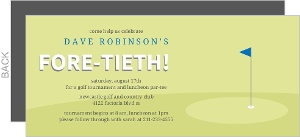 Golf Fore-Tieth Birthday Party Invitation