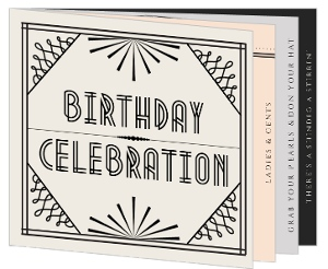1920S Themed 40Th Birthday Party Booklet