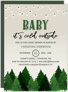 Rustic Outdoor Printable Baby Shower Invitation