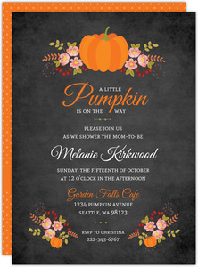 Autumn Floral Printable Baby Shower Invitation