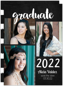 Chalkboard Graduation Printable Save the Date Card