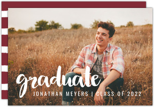 Simple Overlay Printable Graduation Announcement