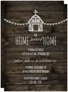 Rustic Farm Printable Housewarming Party Invitation