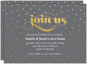 Celebration Dots Party Housewarming Party Invitation
