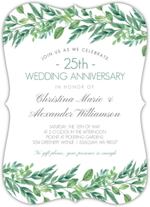 Gorgeous Greenery Online Anniversary Invitation