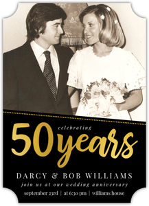 Simple Dotted Angle Online 50th Wedding Anniversary Invitation