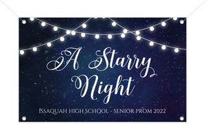 Decorative Lights Printable Prom Banner