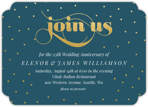 Celebration Dots Online Anniversary Party Invitation
