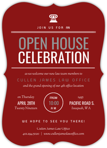 Modern Red & White Law Office Online Open House Invitation